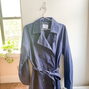 Old Navy   Midni Blue Button Up Trench Coat
